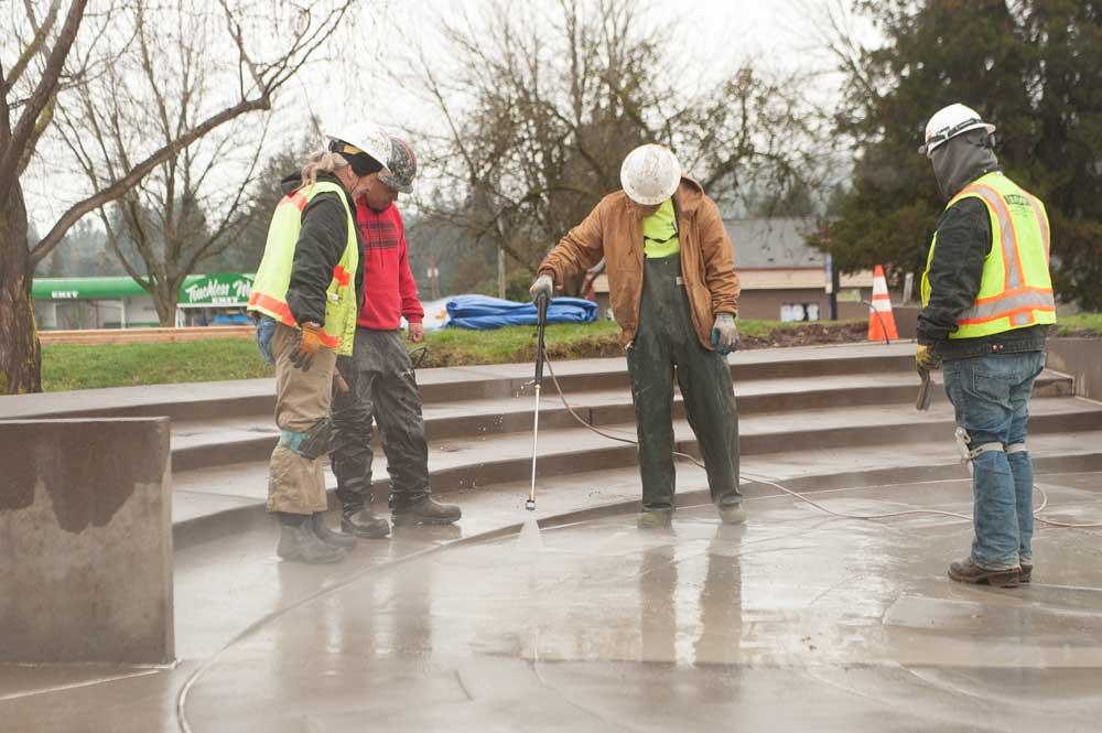 concrete finishing