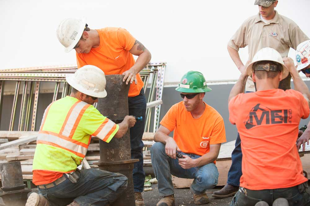 laborers apprenticeship students out on the job