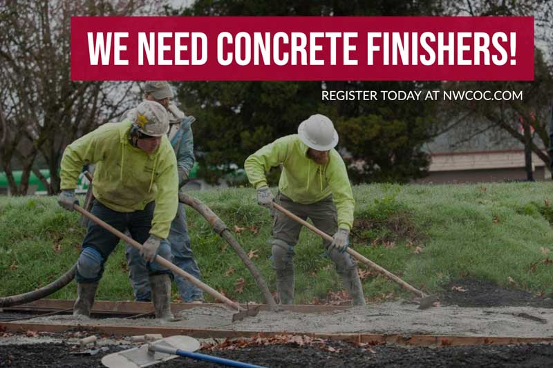 concrete finishers needed