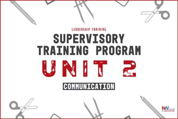 supervisory training program unit 2