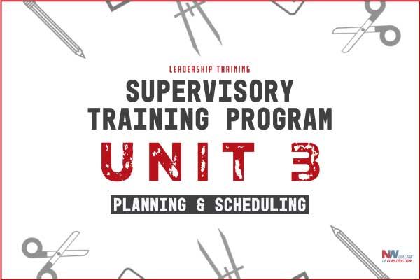 supervisory training program unit 3