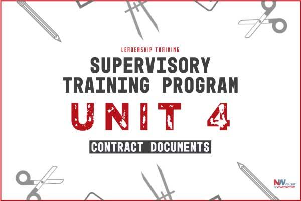 supervisory training program unit 4