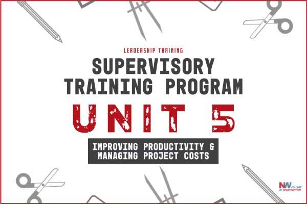supervisory training program unit 5