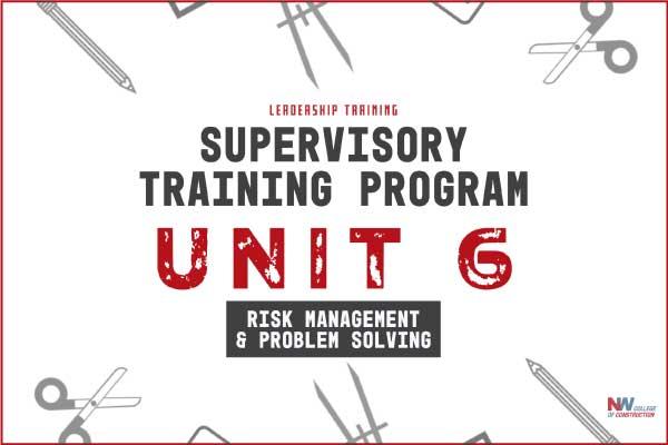 supervisory training program unit 6