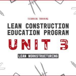 lean construction education program unit 3